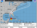 The forecast track of Michael. [NOAA Graphic]